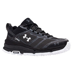 Under Armour Verge Low GTX Womens Shoes, Black-Black-White, 256