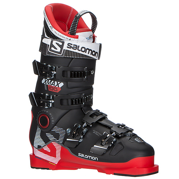 Salomon X-Max 100 Ski Boots, Red-Black, 600