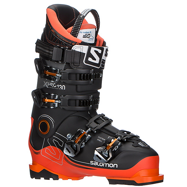 Salomon X-Pro 130 Ski Boots 2017, Black-Orange-Anthracite, 600