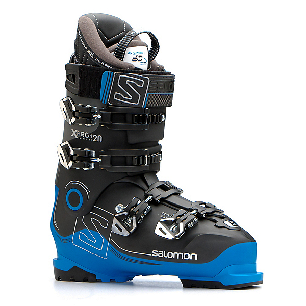 Salomon X-Pro 120 Ski Boots, Black-Indigo Blue-Anthracite, 600