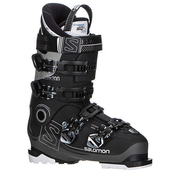 Salomon X-Pro 100 Ski Boots 2017, Black-Anthracite-Light Grey, 600