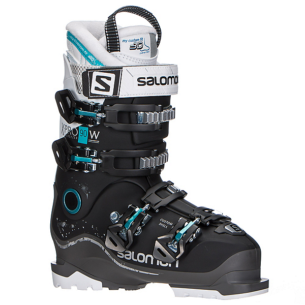 Salomon X-Pro 90 W Womens Ski Boots 2018, Black-Anthracite-White, 600
