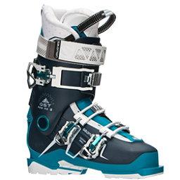 Salomon QST Pro 90 W Womens Ski Boots 2017, Petrol Blue-Blue-Aqua, 256
