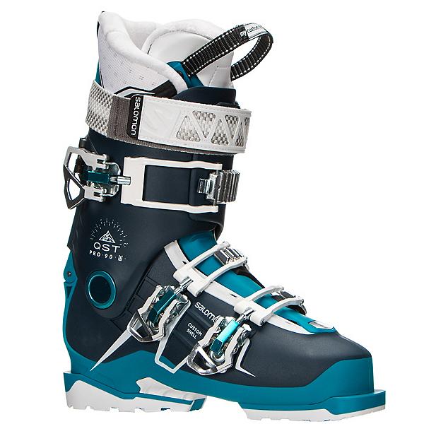 Salomon QST Pro 90 W Womens Ski Boots 2017, Petrol Blue-Blue-Aqua, 600