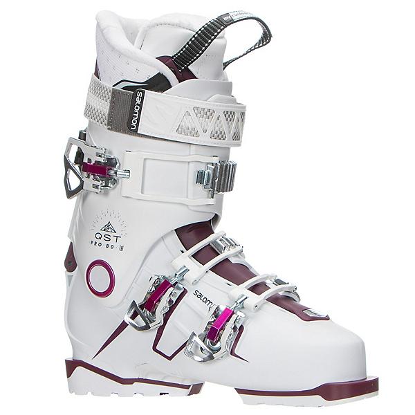 Salomon QST Pro 80 W Womens Ski Boots 2017, White-Burgandy-Pink, 600