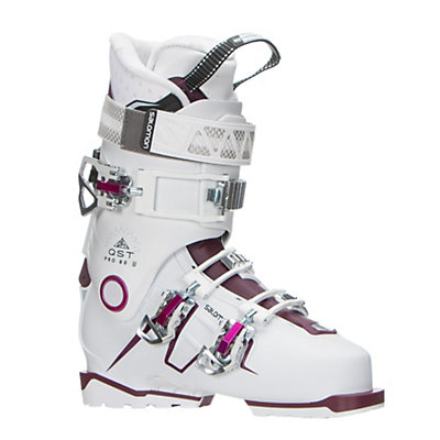 Salomon QST Pro 80 W Womens Ski Boots 2017, White-Burgandy-Pink, viewer
