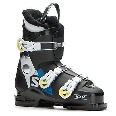Salomon Team T3 Kids Ski Boots 2017, Black-White-Acide Green, viewer