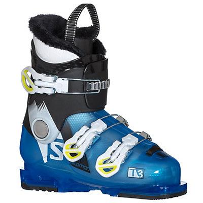 Salomon T3 RT Kids Ski Boots 2017, Indigo Blue Translucent-Black, viewer