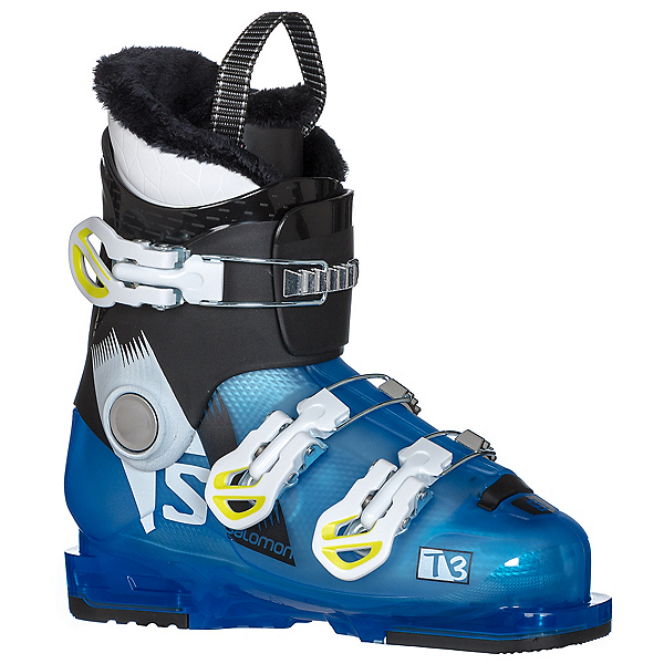 Salomon T3 RT Kids Ski Boots 2017, Indigo Blue Translucent-Black, 600