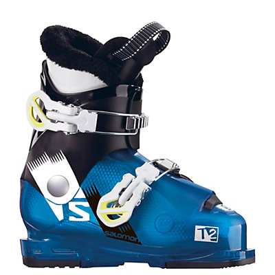Salomon Team 2 RT Kids Ski Boots 2017, Indigo Blue Translucent-Black, viewer