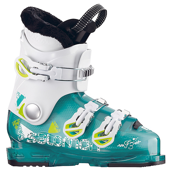 Salomon T3 RT Girly Girls Ski Boots 2018, Light Green Translucent-White, 600