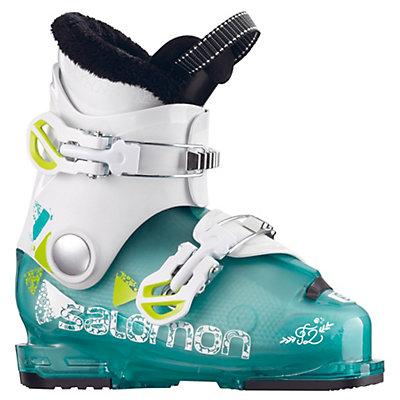 Salomon T2 RT Girly Girls Ski Boots 2017, Light Green Translucent-White, viewer