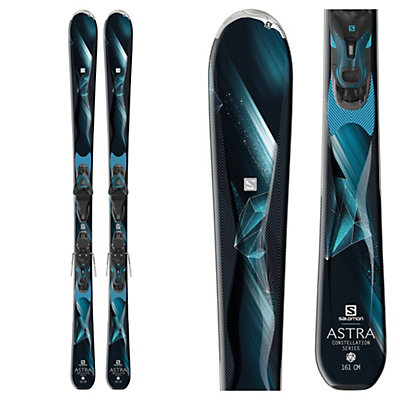 Salomon Astra Womens Skis with Lithium 10 Bindings 2017, , viewer
