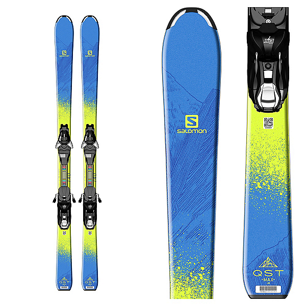 Salomon QST Max Jr. Kids Skis with EZY 7 Bindings 2017, , 600