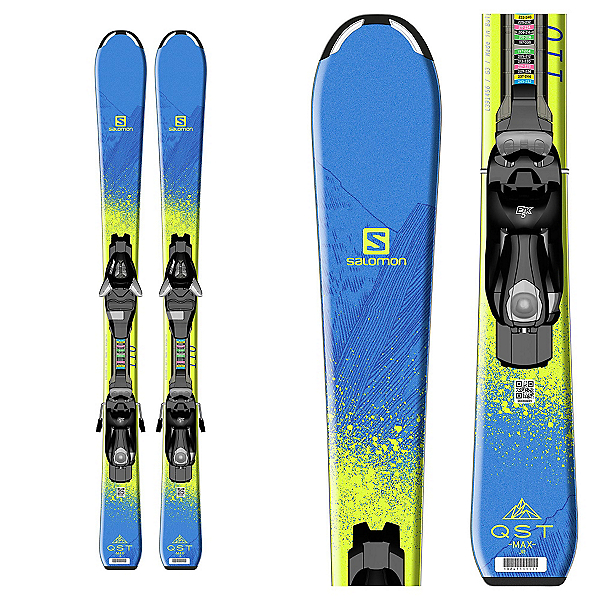 Salomon QST Max Jr. Kids Skis with EZY 5 Bindings 2017, , 600