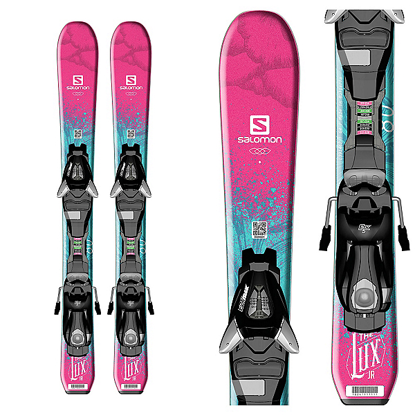 Salomon QST Lux Jr. XS Kids Skis with EZY 5 Bindings, , 600