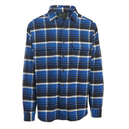 Woolrich Oxbow Bend Flannel Mens Shirt, Dark Cobalt, 256