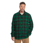 Woolrich Oxbow Bend Flannel Mens Shirt, Forest Green Buffalo, medium