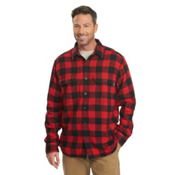 Woolrich Oxbow Bend Flannel Mens Shirt, Old Red Buffalo, medium