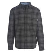 Woolrich Trout Run Flannel Mens Shirt, Gray Hunt Plaid, medium