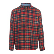 Woolrich Trout Run Flannel Mens Shirt, Old Red Multi, medium