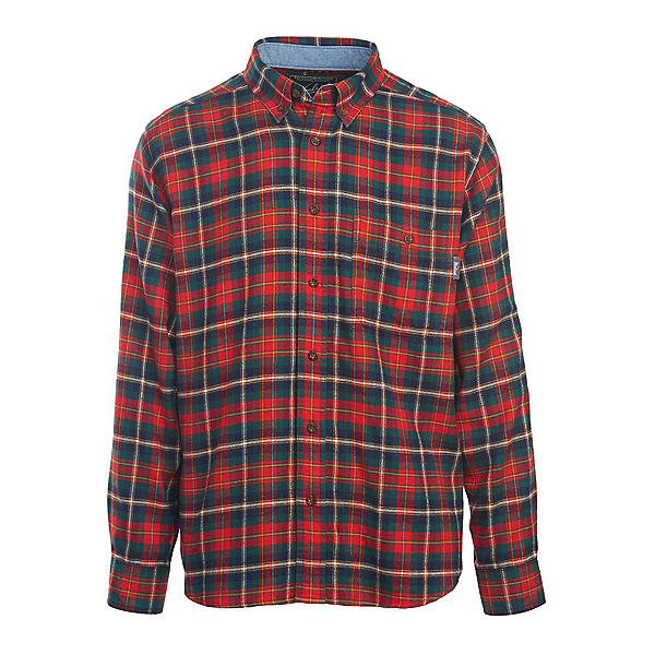 Woolrich Trout Run Flannel Mens Shirt, Old Red Multi, 600