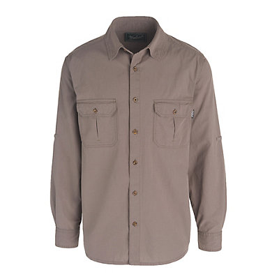 Woolrich Midway Solid Mens Shirt, Slate, viewer