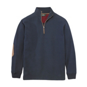 Woolrich Boysen Half Zip Mens Shirt, Deep Indigo, medium