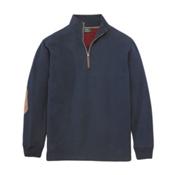 Woolrich Boysen Half Zip Mens Shirt, Deep Indigo, medium