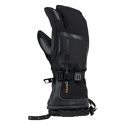Gordini Fuse Three Finger Gloves, Black, viewer