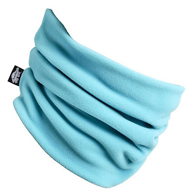 Turtle Fur Micro Fur Double Layer Neck Warmer, Teal Spin, viewer