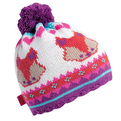 Turtle Fur Little Fox Kids Hat, Pink, viewer