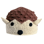 Turtle Fur Hedgie Kids Hat, Brown, medium