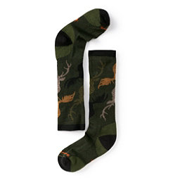 SmartWool Wintersport Camo Kids Ski Socks, Loden, 256