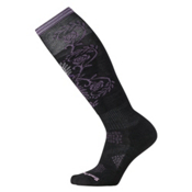 SmartWool PhD Ski Light Pattern Womens Ski Socks, Black, medium