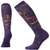 SmartWool PHD Medium Pattern Womens Ski Socks, Mountain Purple, medium