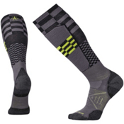 SmartWool PhD Ski Light Elite Pattern Ski Socks, Graphite, medium