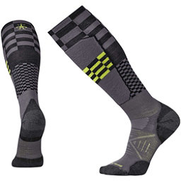SmartWool PhD Ski Light Elite Pattern Ski Socks, Graphite, 256