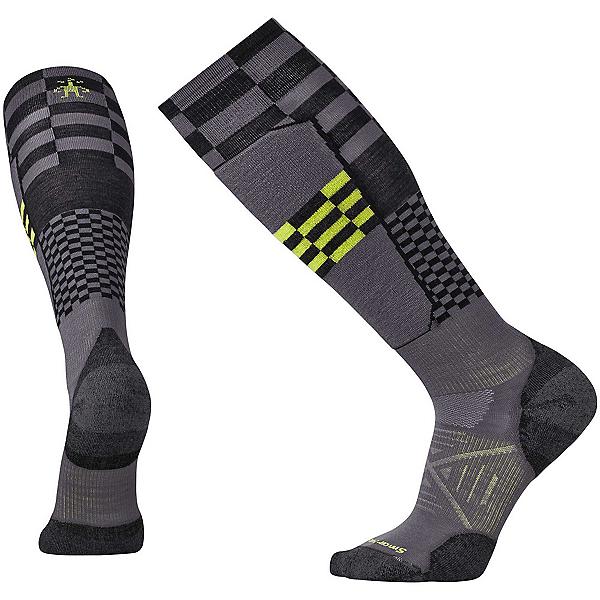 SmartWool PhD Ski Light Elite Pattern Ski Socks, Graphite, 600