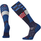 SmartWool PhD Ski Light Elite Pattern Ski Socks, Navy, medium