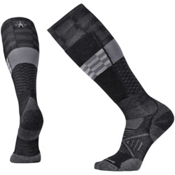 SmartWool PhD Ski Light Elite Pattern Ski Socks, Black, medium