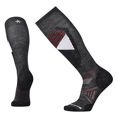SmartWool PHD Light Pattern Mens Ski Socks, Charcoal, viewer