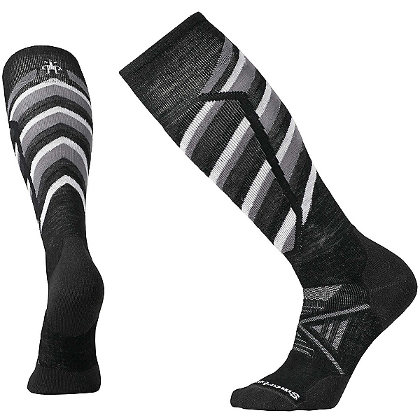 SmartWool PhD Ski Medium Pattern Ski Socks, Black, 600