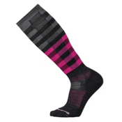 SmartWool Slopestyle Light lfrane Womens Snowboard Socks, Black-Berry, medium