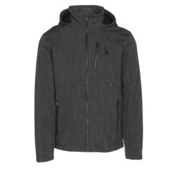 Spyder Patsch Novelty Mens Soft Shell Jacket, Black-Black, medium