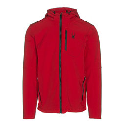 Spyder Patsch Hoody Mens Soft Shell Jacket, Red-Black, 256