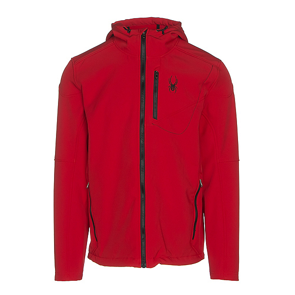Spyder Patsch Hoody Mens Soft Shell Jacket, Red-Black, 600