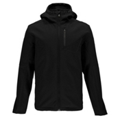 Spyder Patsch Hoody Mens Soft Shell Jacket, Black-Polar, medium