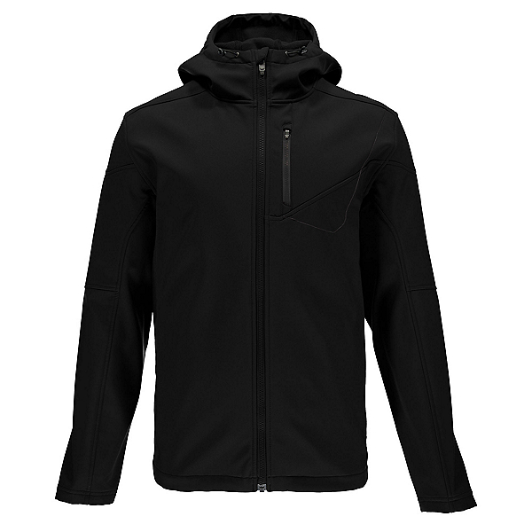 Spyder Patsch Hoody Mens Soft Shell Jacket, Black-Polar, 600