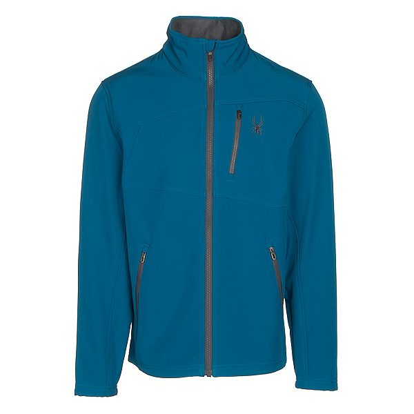Spyder Fresh Air Mens Soft Shell Jacket, Concept Blue-Polar, 600